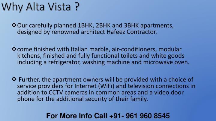 Why Alta Vista ?
