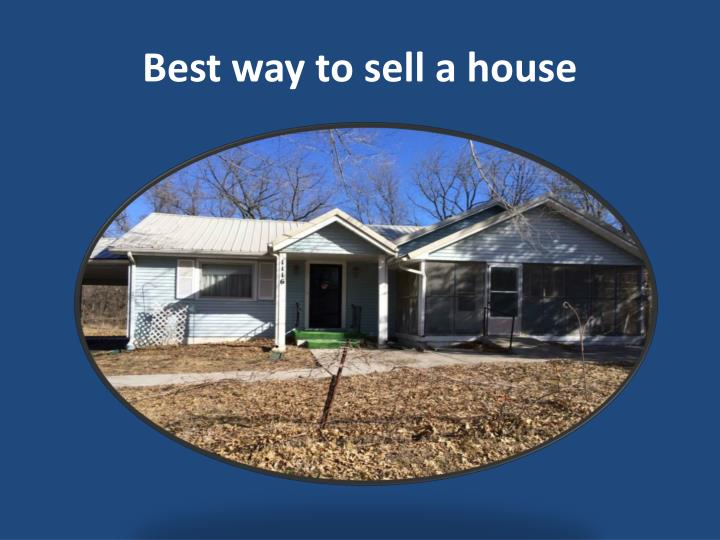 Best way to sell a house