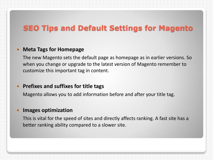 Meta Tags for Homepage