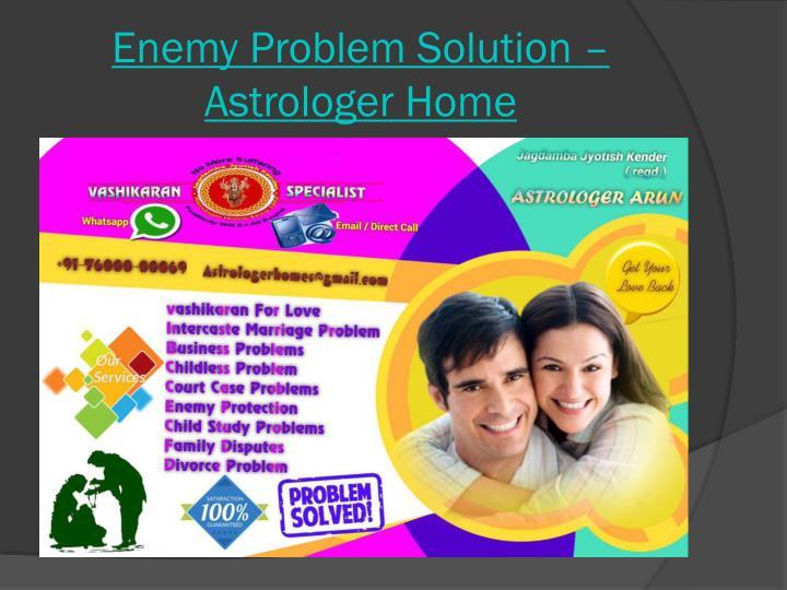 Enemy problem solution astrologer home