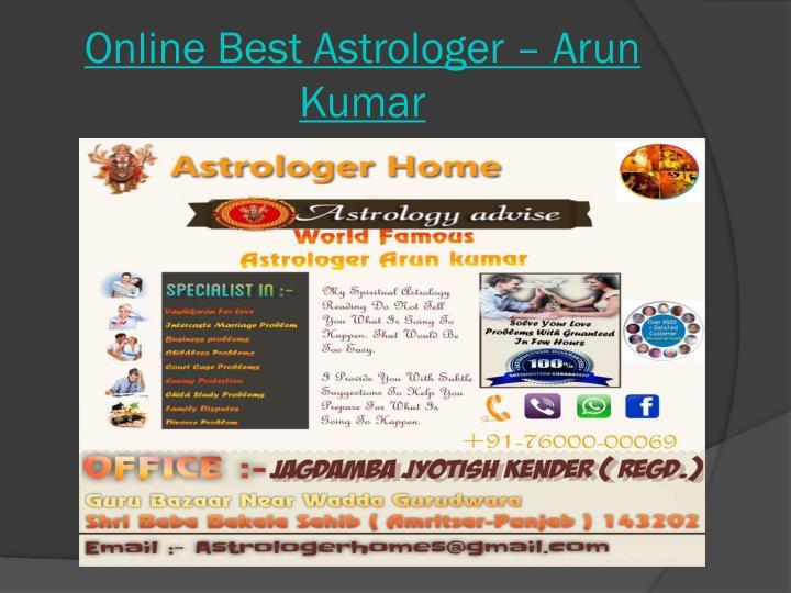 Online best astrologer arun kumar