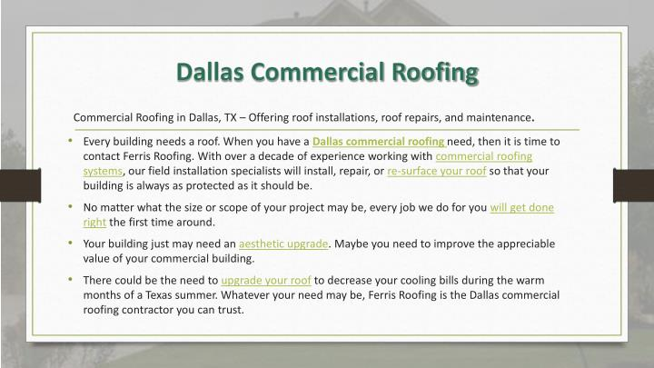 Commercial Roofing in Dallas, TX