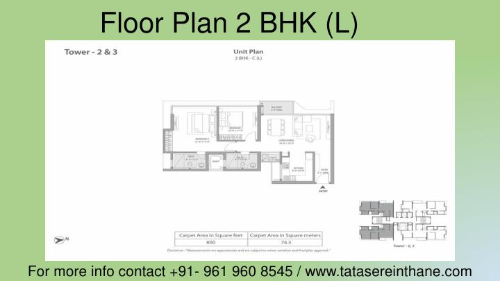 Floor Plan 2 BHK (L)