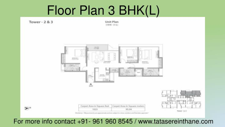 Floor Plan 3 BHK(L)
