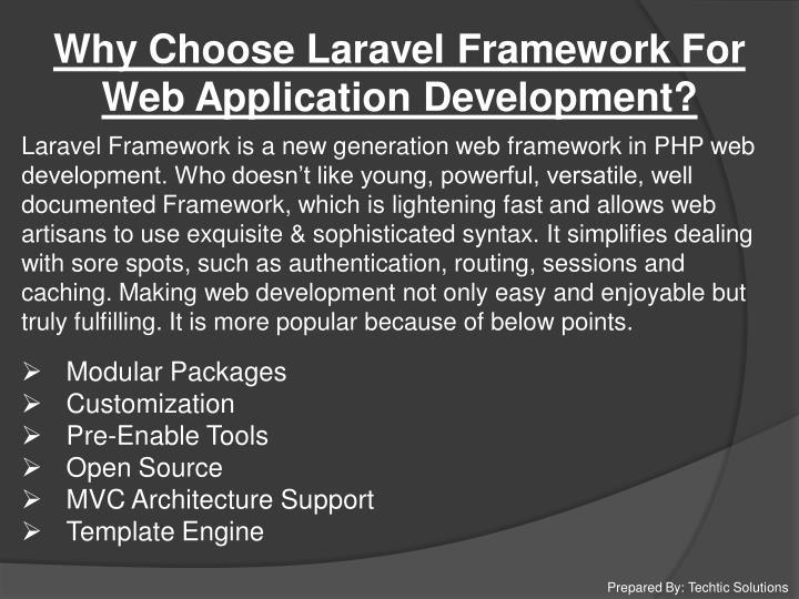 Why Choose Laravel Framework For