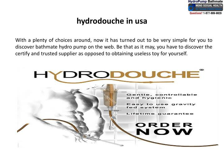 Hydrodouche in usa1