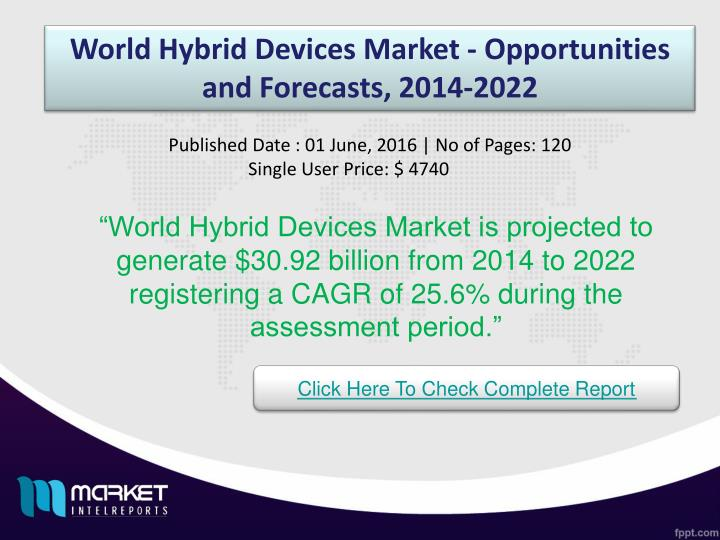 World Hybrid Devices Market - Opportunities and Forecasts, 2014-2022