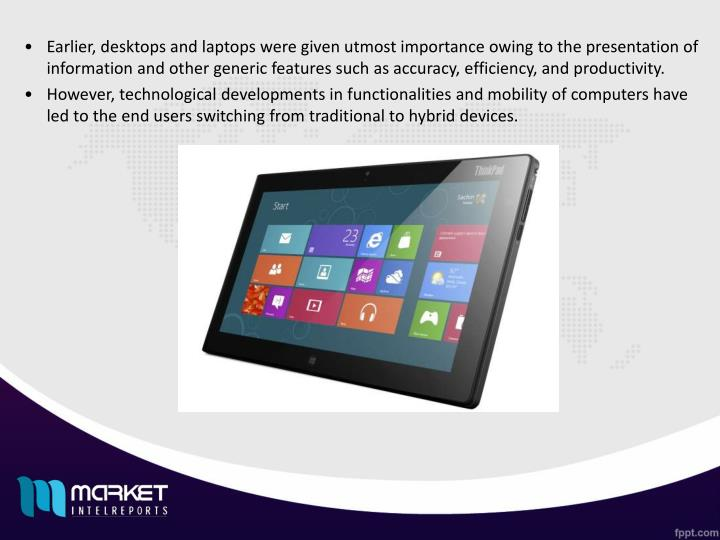 Earlier, desktops and laptops were given utmost importance owing to the presentation of information ...