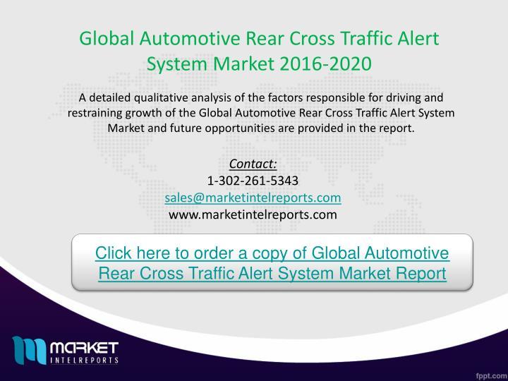 Global Automotive Rear Cross Traffic Alert