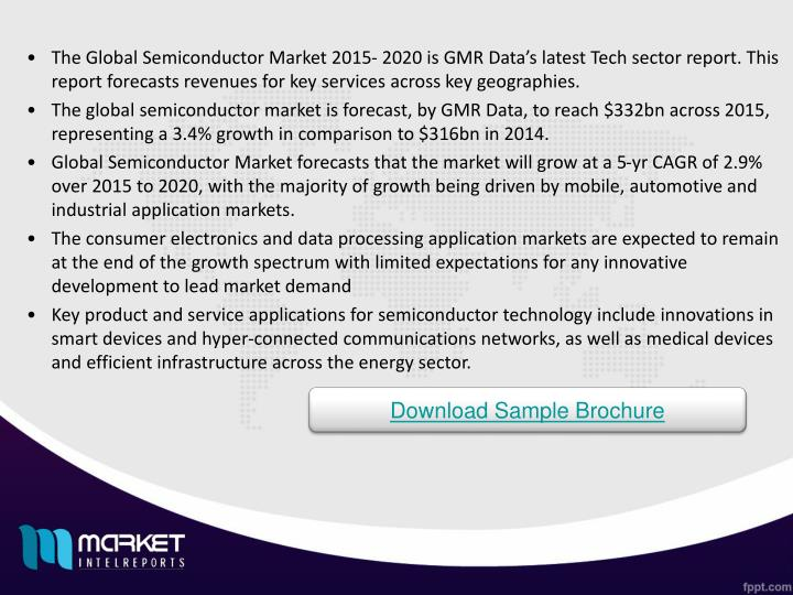 The Global Semiconductor Market 2015- 2020 is GMR Data's latest Tech sector report. This report fo...