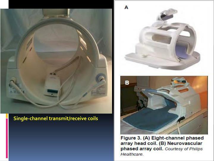 Single-channel transmit/receive coils
