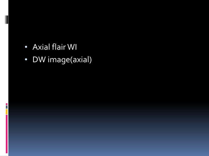 Axial flair WI