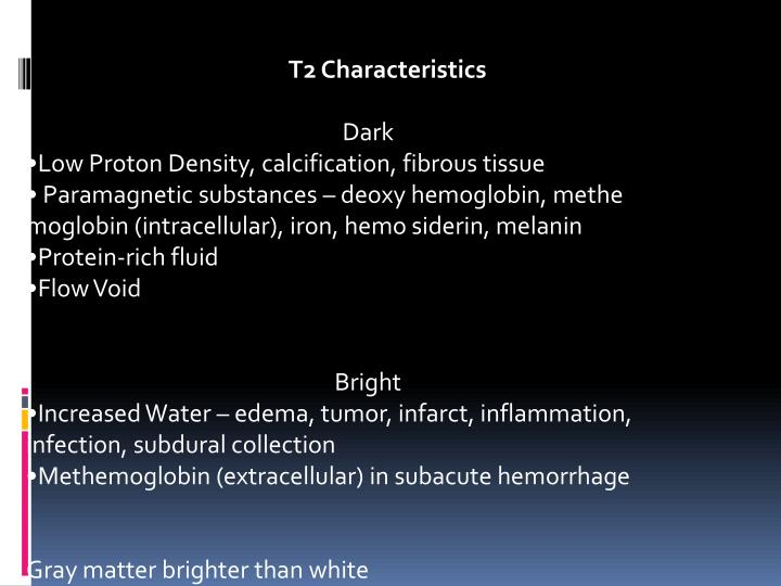 T2 Characteristics