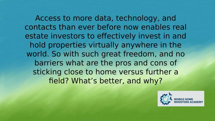 Access to more data, technology, and