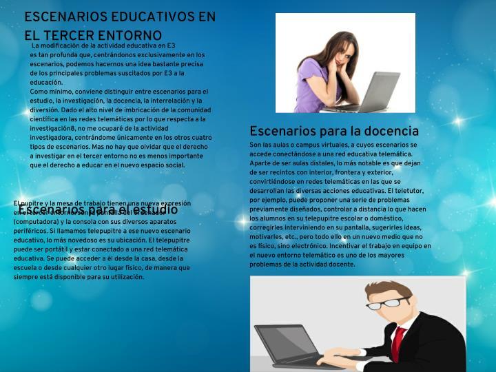 ESCENARIOS EDUCATIVOS EN
