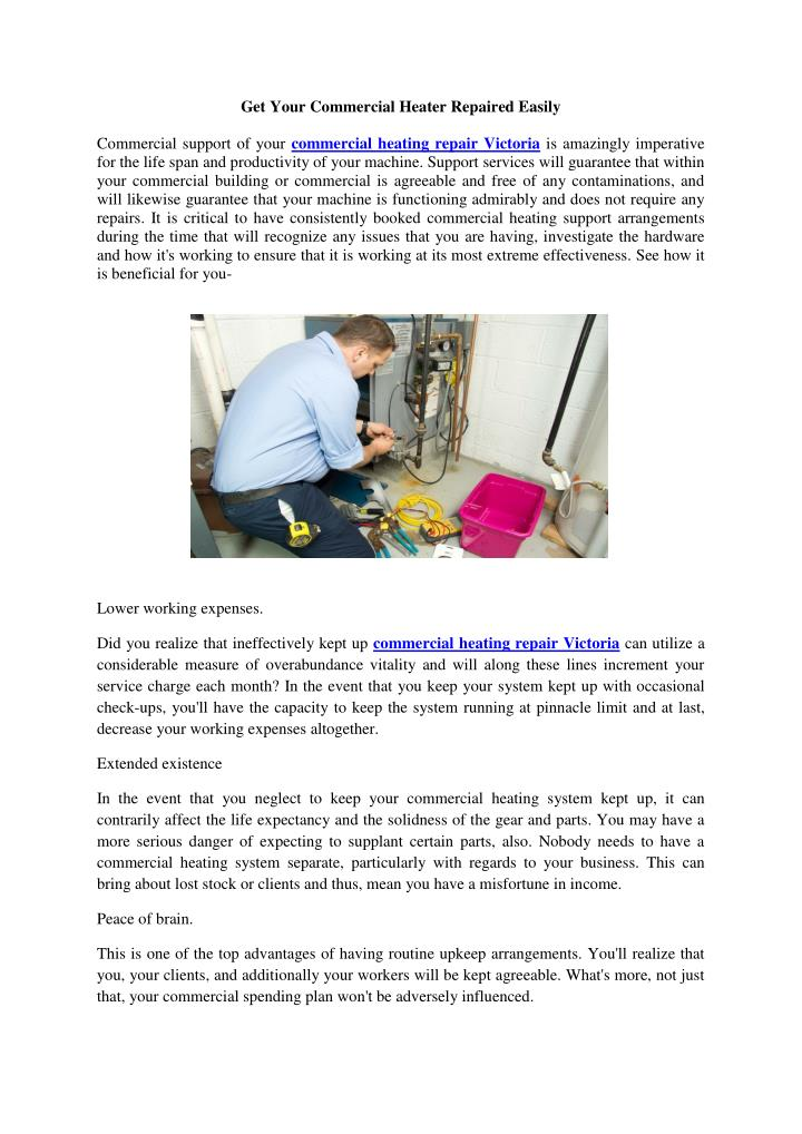 Get Your Commercial Heater Repaired Easily