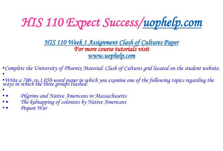 His 110 expect success uophelp com2