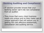 banking auditing and compliance