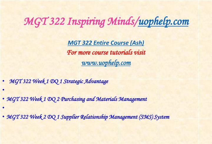Mgt 322 inspiring minds uophelp com1
