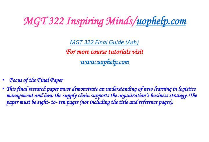 Mgt 322 inspiring minds uophelp com2