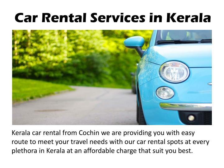 Car Rental Services in Kerala