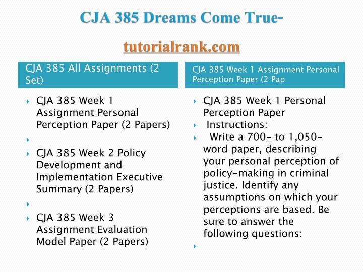 Cja 385 dreams come true tutorialrank com1