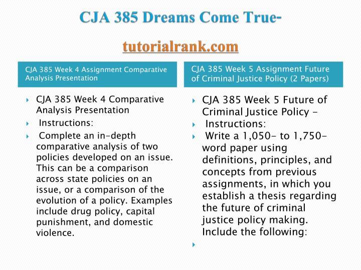 CJA 385 Dreams Come True