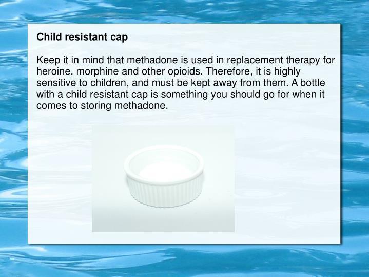 Child resistant cap