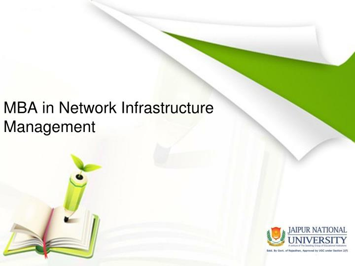 Mba in network infrastructure management