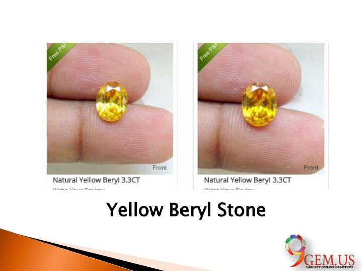 Yellow Beryl Stone