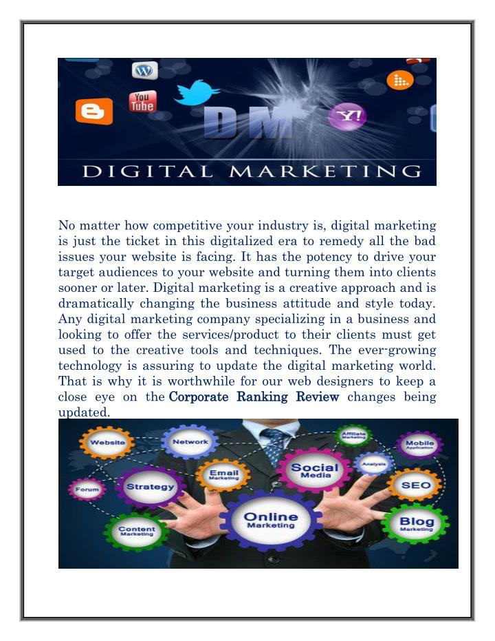 No matter how competitive your industry is, digital marketing