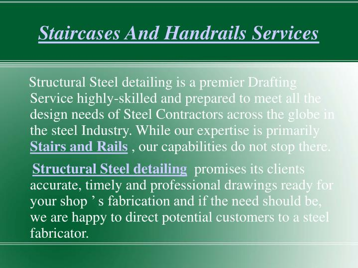 Staircases and handrails services