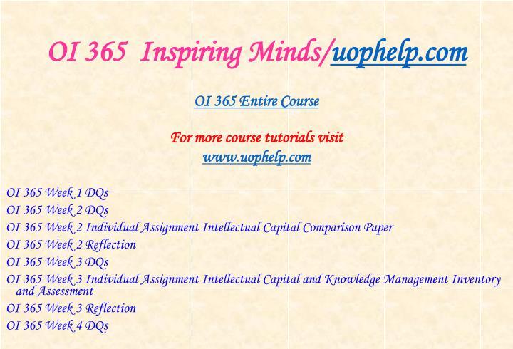 Oi 365 inspiring minds uophelp com1