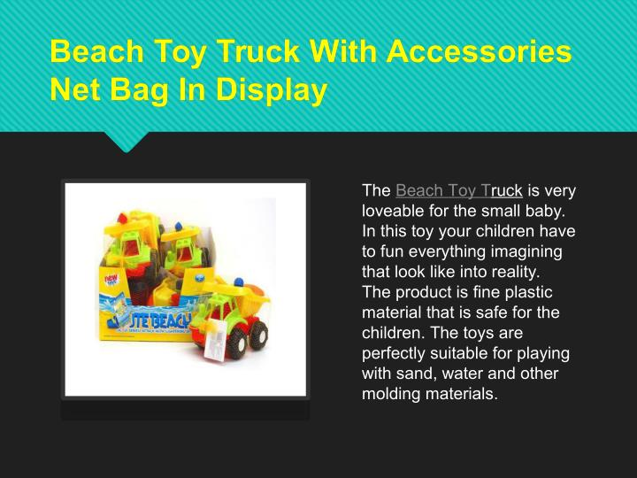 Beach Toy Truck With Accessories