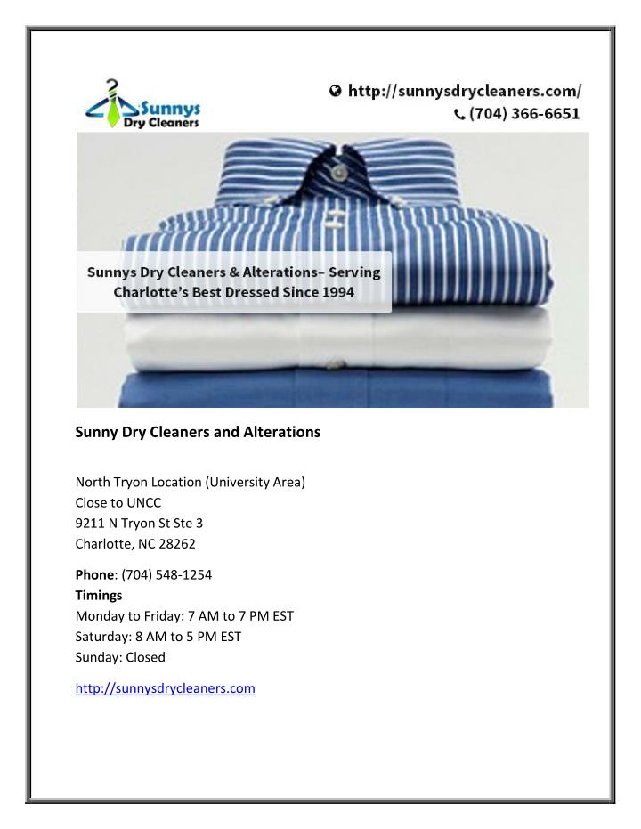 Sunny Dry Cleaners and Alterations