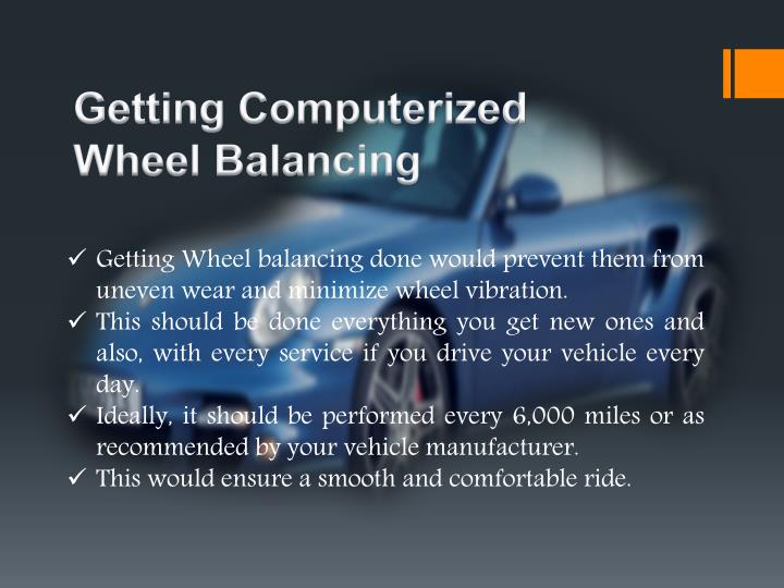 Getting computerized wheel balancing