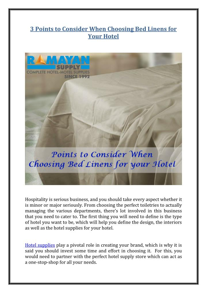 3 Points to Consider When Choosing Bed Linens for