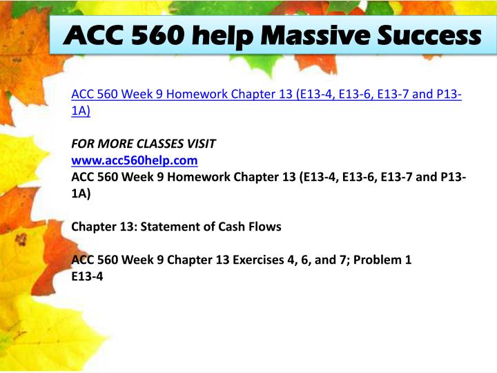 ACC 560 help Massive Success