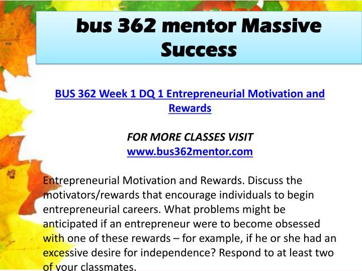 Bus 362 mentor Massive
