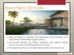 about nipra 3d studio