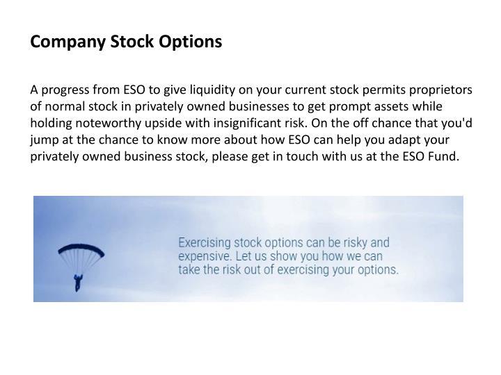 Company Stock Options