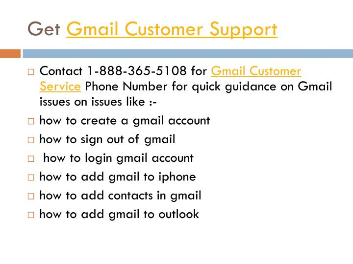 Get gmail customer support