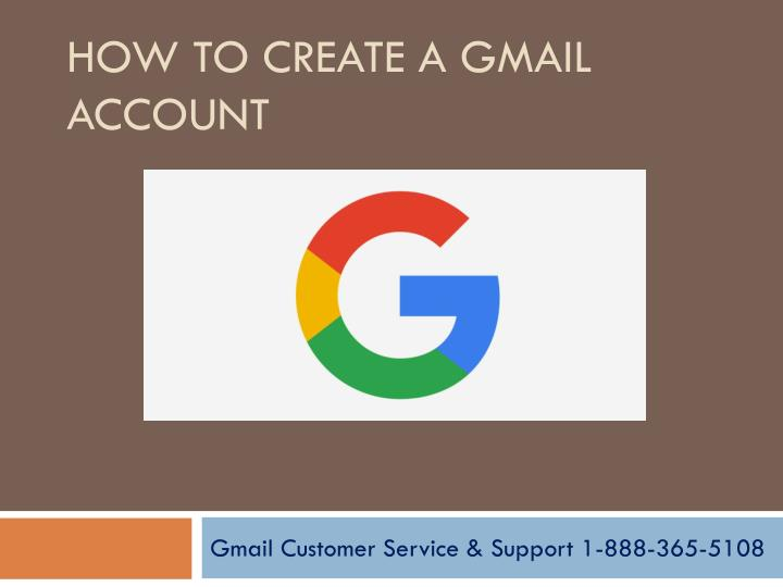 How to create a g mail account