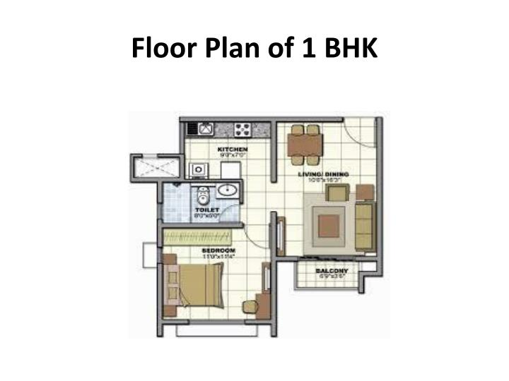 Floor Plan of 1 BHK