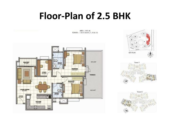 Floor-Plan of 2.5 BHK