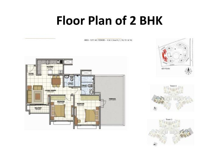 Floor Plan of 2 BHK