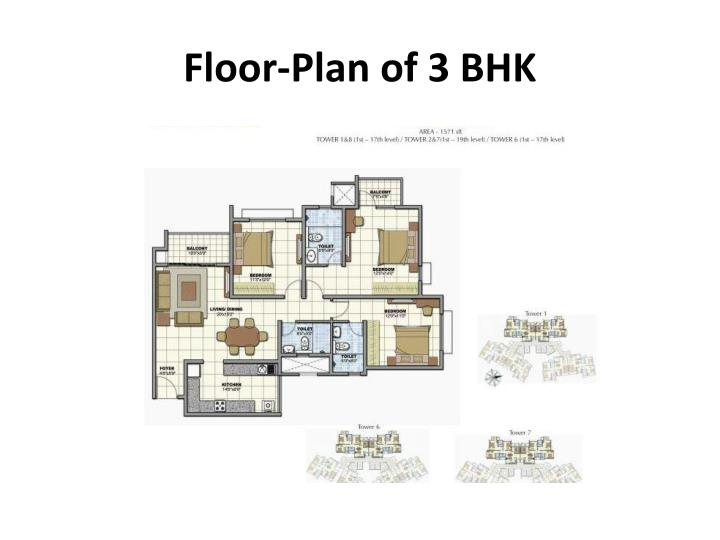 Floor-Plan of 3 BHK