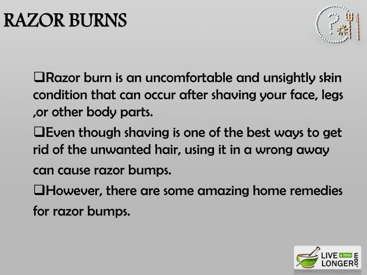 Razor burns