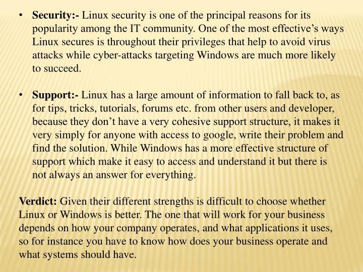 Security:-
