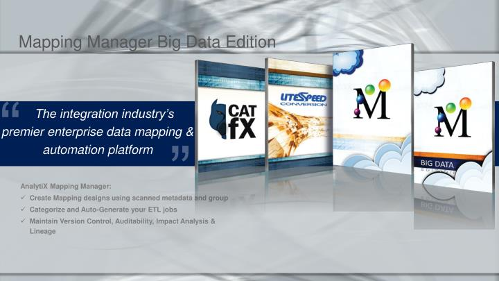 Mapping Manager Big Data Edition